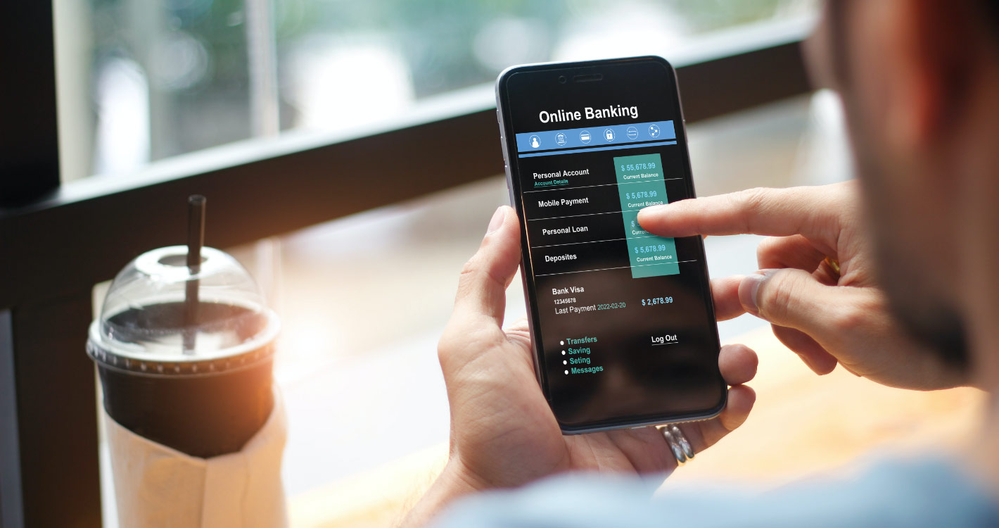 Online Banking from a smartphone